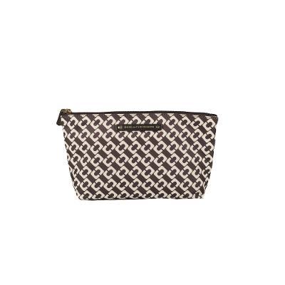 geometric pattern mini clutch black